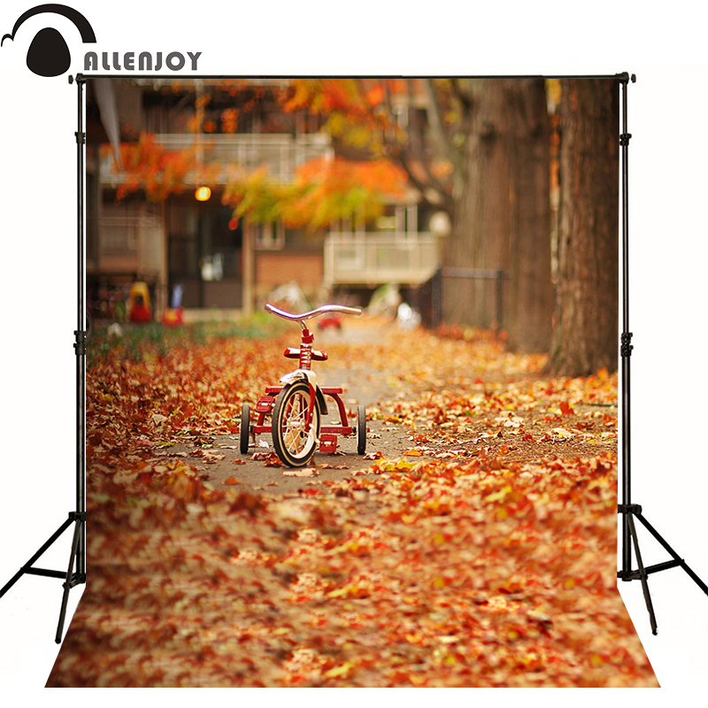 Allenjoy photography backdrops Autumn leaves tree car photo baby background photocall allenjoy photography backdrops autumn forest backgrounds smoke leaves photographic background fond studio photo vinyl photocall