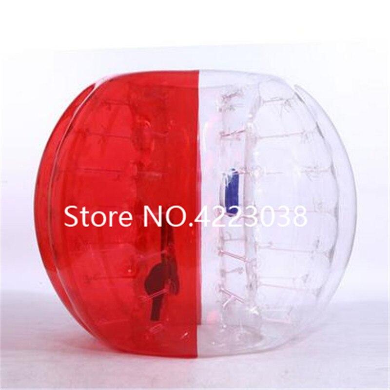 1,5 м надувной футбольный мяч в виде пузыря бампер шар-Зорб пузырь футбол человеческий батут Bubbleball Zorb мяч - Цвет: red and clear