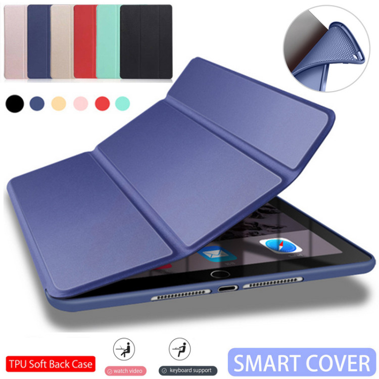 for iPad Pro 11 Case For iPad 9.7 2017 2018 Silicone Soft Back PU Leather Smart Cover Funda for iPad 2018 6th generation Case