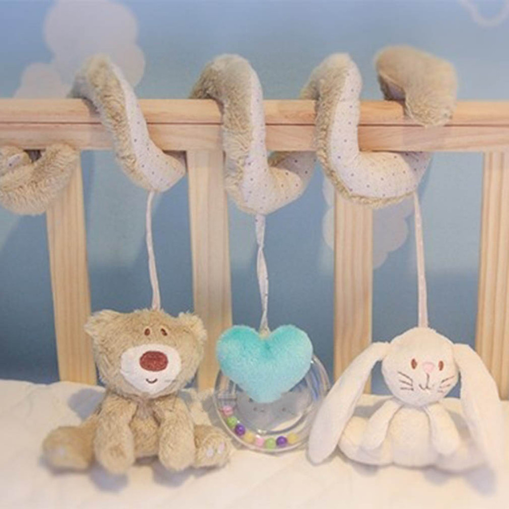 Infant Toys Baby Crib Revolves Around The Bed Stroller Playing Toy Car Lathe Hanging Baby Rattles Mobile 0-12 Months newborn baby cute plush bed stroller cartoon elephant lion hanging toy infant rattle grasp educational toy toddler crib product