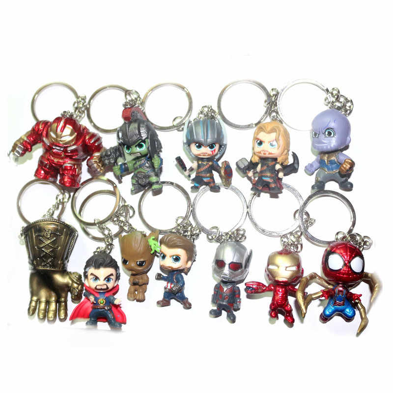 2019 Marvel Universe Avengers Quality Edition Captain America Steel Spiderman MK33 Anti-Hulk Hand Office Keychain Hanging Buckle