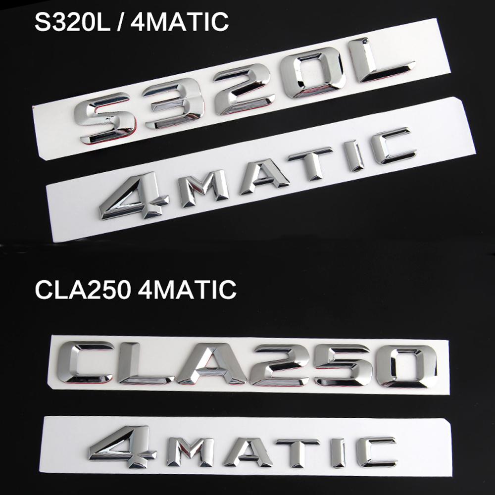 высочайшее качество авто автомобиль 4 матик 4 матик АМГ для Мерседес Бенц задний эмблема наклейка знак стикер c200l c260l s500l e320l gla260 cls260