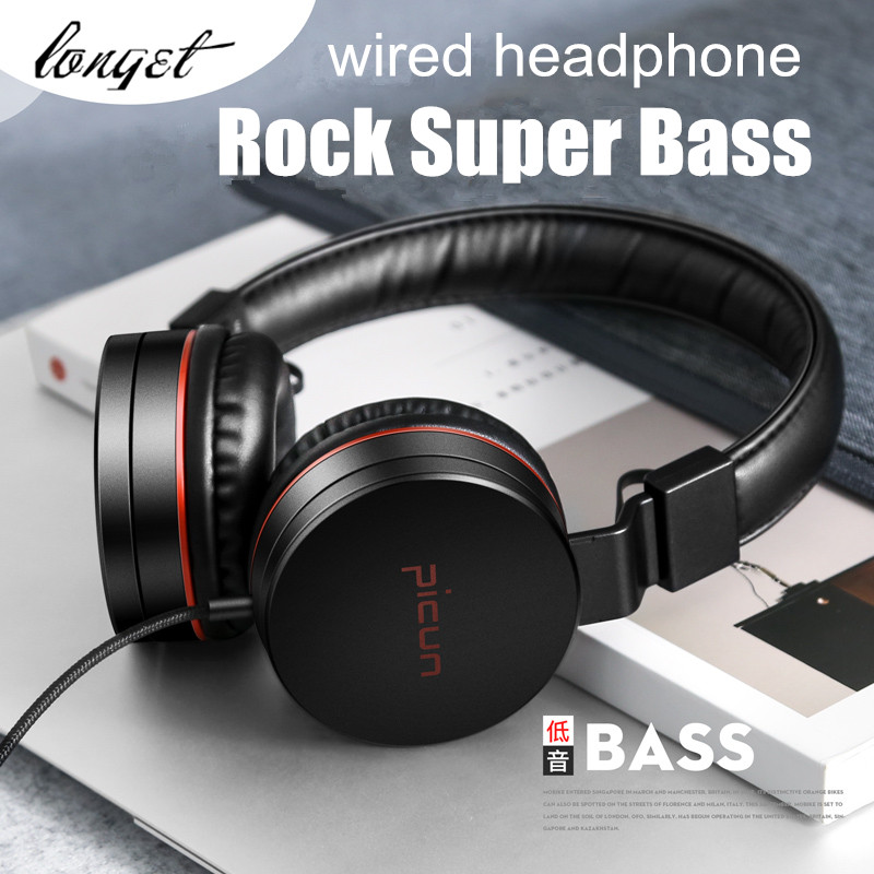 Wired Headphones with Microphone and Volume Control Folding Lightweight supre bass HiFi Headset for iPhone Smartphones Laptop