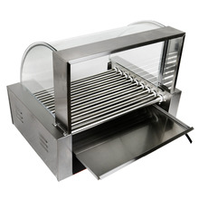 9 Roller Grill Cooker Machine w/Cover CE