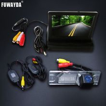 WIRELESS SONY CCD HD Car Rear View Camera waterproof With 4.3 inch Car Rearview Mirror Monitor For Renault Koleos 2009-2014