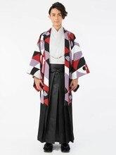 Men's Japanese Kimono Dress Suit and Feather Woven  Wedding Kimono Dress Full Set men s dress suit feather woven traditional warrior kimono japanese wedding adult kimono