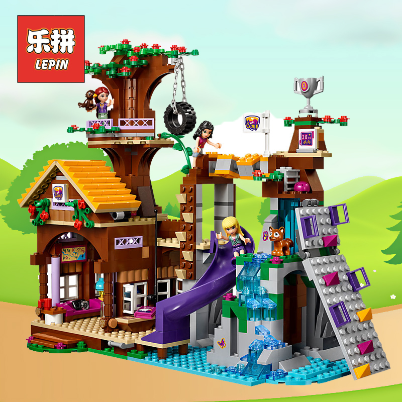 Lepin Heartlake City Park Adventure Camp Tree House Girl Friends Building Blocks Compatible Legoinglys Friends 41122 Kids Toys все цены