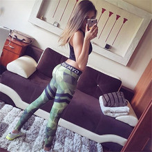 2017New Fashion Women Geometric camouflage leggings 3D Printed color legins Ray fluorescence leggins pant legging sportswe Woman