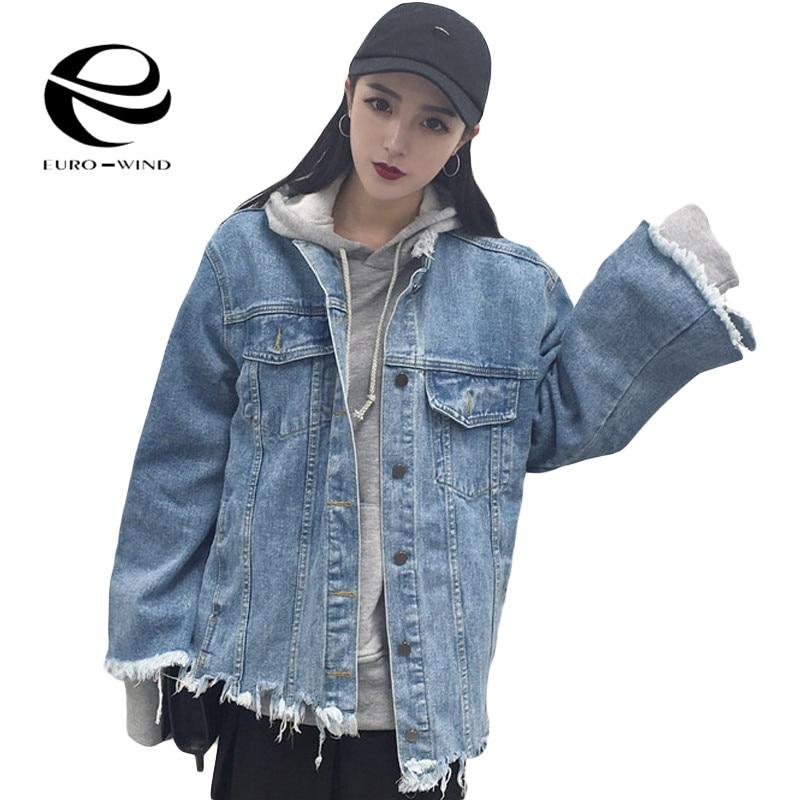 Aliexpress.com  Buy Oversize Denim Jackets Women 2017 Spring Personality Harajuku Back Holes ...