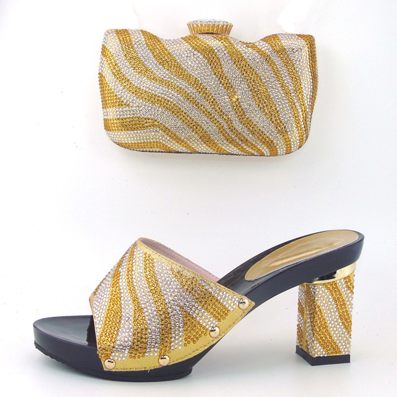 ФОТО High Quality African Shoes And Bags,Fashion Italian Matching Shoes And Bag Set Nigerian High Heels For Wedding Dress! !MHY1-2