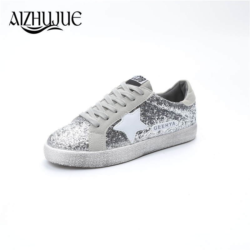 women flat shoes 2018 new spring autumn fashion star dirty shoe zapatillas mujer korean woman silver casual sneakers female pinsen summer sneakers fashion shoes woman flats casual mesh flat shoes designer female loafers shoes for women zapatillas mujer