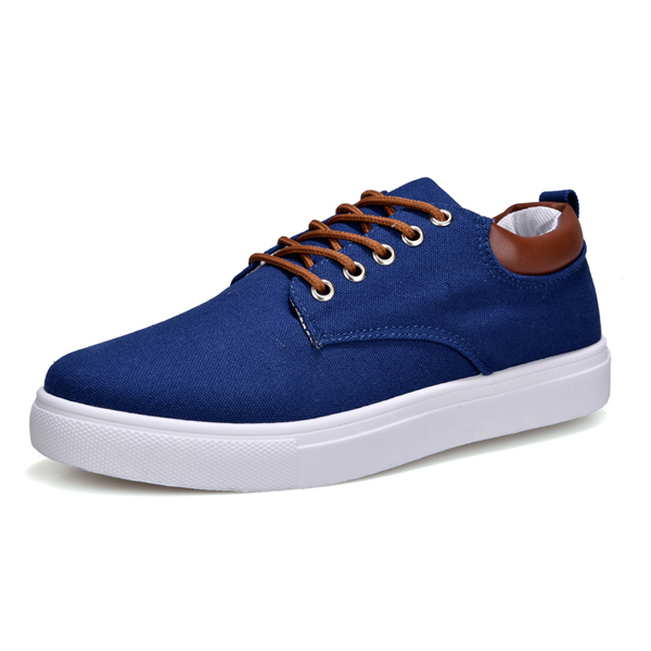 ZYYZYM Männer schuhe Leinwand Lace-Up Stil Atmungsaktive Top Mode Trend Vulkanisierte Schuhe Student Jugend Schuhe Männer Große größe EUR 45-46