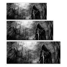 3D Grim Reaper Morte Foresta Lunotto Posteriore Graphic Sticker Auto Camion SUV Van Decalcomania