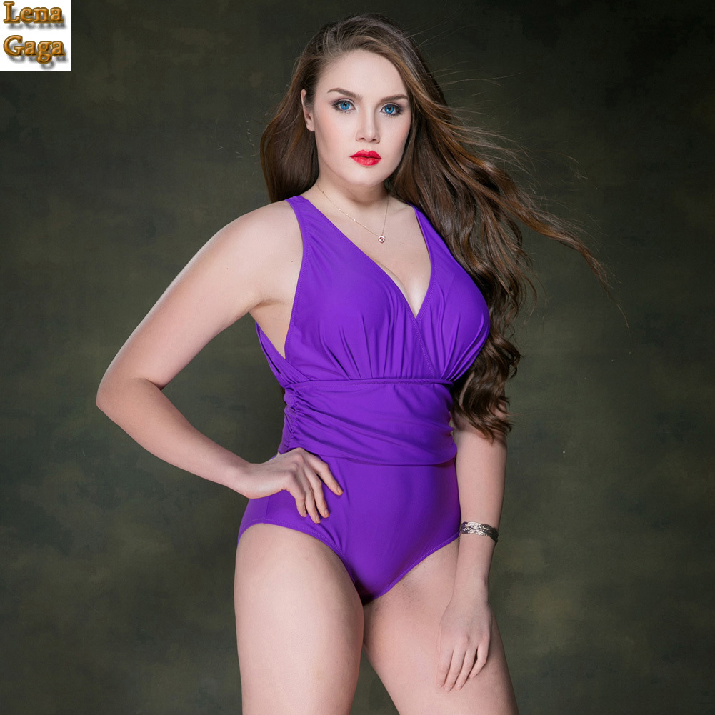 Lena Gaga 2017 High Cut Swimsuit Push Up Backless One Piece Swimsuit Women Plus Size Women Swimwear Thong Sexy Swimsuit Fused купить