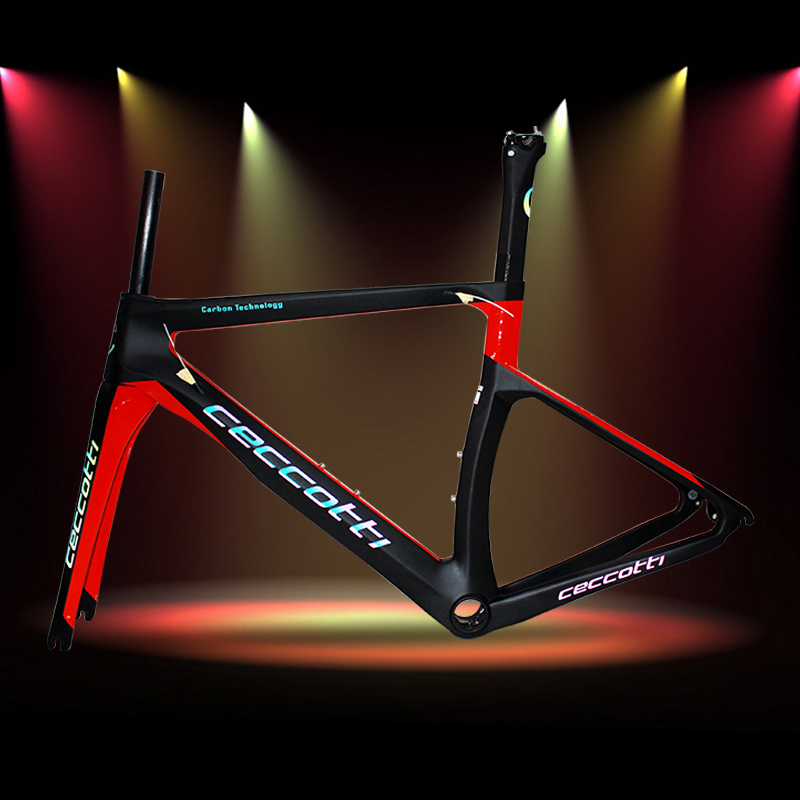 Reflective Carbon Road Frame New Frame Carbon Road T1000 3k Safe Riding DI2 And Mechanical Suitable Bicycle Frame RF13