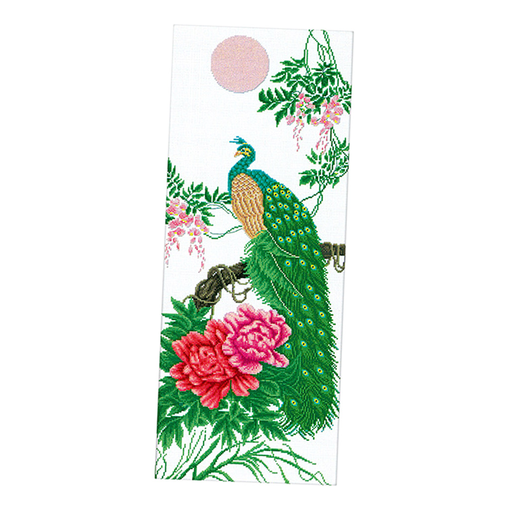 DIY Painting Peony Peacock Embroidery Cross Stitch Kits Crafts Home Decors