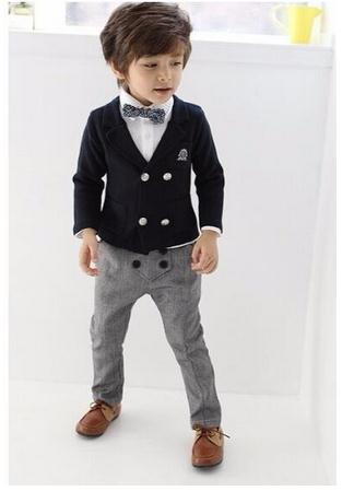 8ab606873904 2018 Blazers jackets for Baby boys Wedding suits Kids clothes suit ...