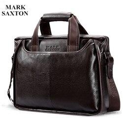 2020 новый модный мужской деловой портфель из воловьей кожи/винтажная мужская сумка-мессенджер из натуральной коровьей кожи/Повседневная де...