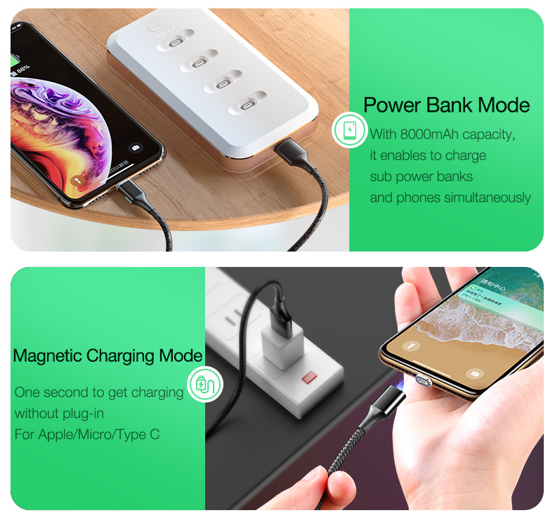 Magnetic Wireless Power Bank Portable Charger External Battery (4)