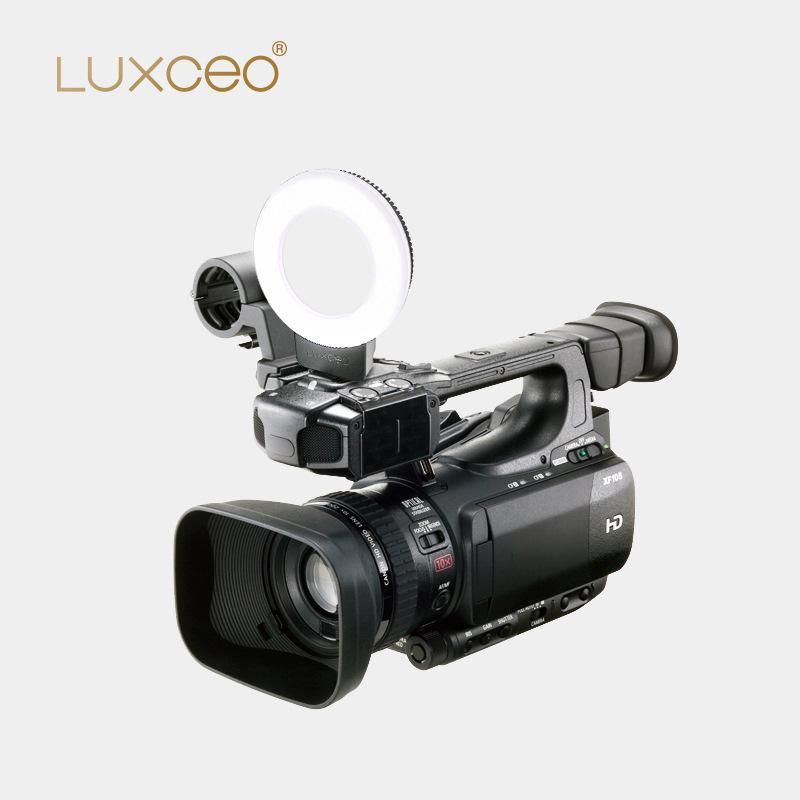 Luxceo LED Dimmable photographie lumière photographie Studio caméra anneau lumière pour téléphone portable reflex trépied équipement Photo en direct