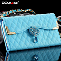 DR.CASE Diamond PU Leather Handbag Phone Cases For iPhone 6 6S Sheepskin Grid Pattern Phone Bag Cover For iPhone 6 6s Plus Pouch