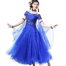 купить New Women Ballroom Dance Dress Standard Ballroom Dance Skirts Ladin Dresses Vestido De Formatura Waltz Dance Dress по цене 5648.12 рублей