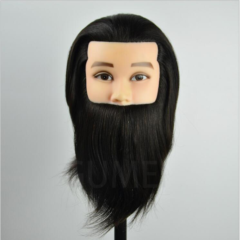 100% human hair training mannequin head for hairdressers men dummy with manequim male heads