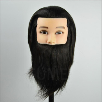 100% human hair training mannequin head for hairdressers men dummy head with human hair manequim male hair mannequin heads 100% real human hair head dolls for hairdressers 16 brown training head professional mannequin with small clamp can be curled