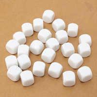 25 stücke Weiß Acryl 16mm Blank White Opaque Sechs Seitige D6 Würfel Bord Spiele Math Spielzeug