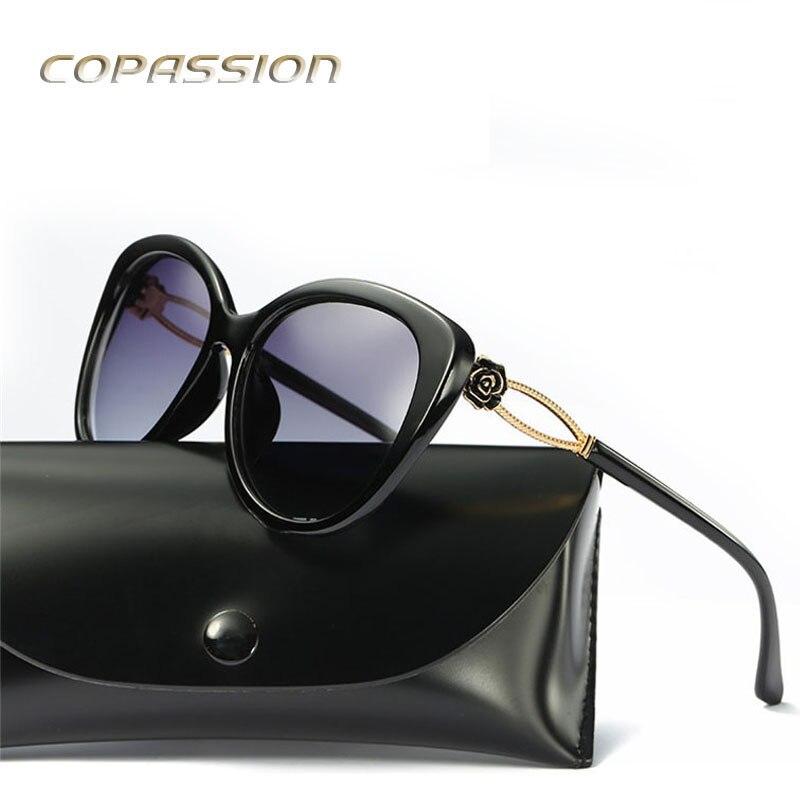 2017 женские солнцезащитные очки поляризованные очки Рыбалка очки модной большой Рамки розы солнцезащитные очки UV400 очки Óculos De Sol