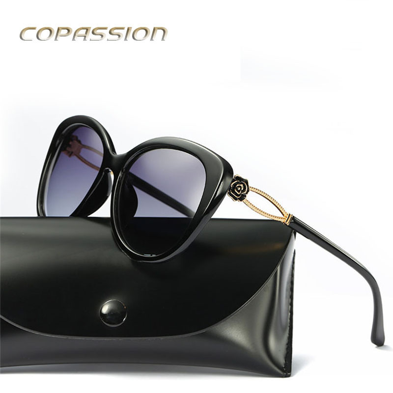 2017 womens sunglasses polarized fishing glasses brand designer Big Frame Roses sun glasses uv400 Goggles Eyewear oculos de sol
