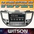 WITSON precio de fábrica!! dvd del coche para HYUNDAI ix35/TUCSON 2016 stereo radio navegación GPS + Pantalla Capacitiva + DSP + TPMS + DVR + WIFI