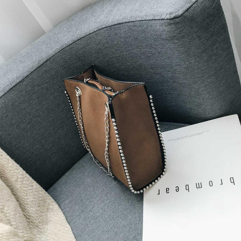 2019 torebka top na co dzień jakość luksusowa Crossbody łańcuszkowa torba na ramię łańcuszek torba klapowa damska codzienna torba na ramię Bolsa