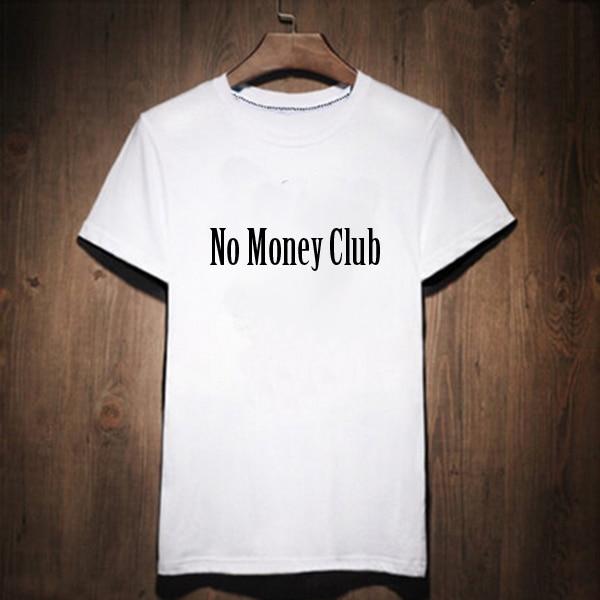 unisex novel no money club letter print women white t shirt lettering female clothes tee summer harajuku rap hiphop tshirts