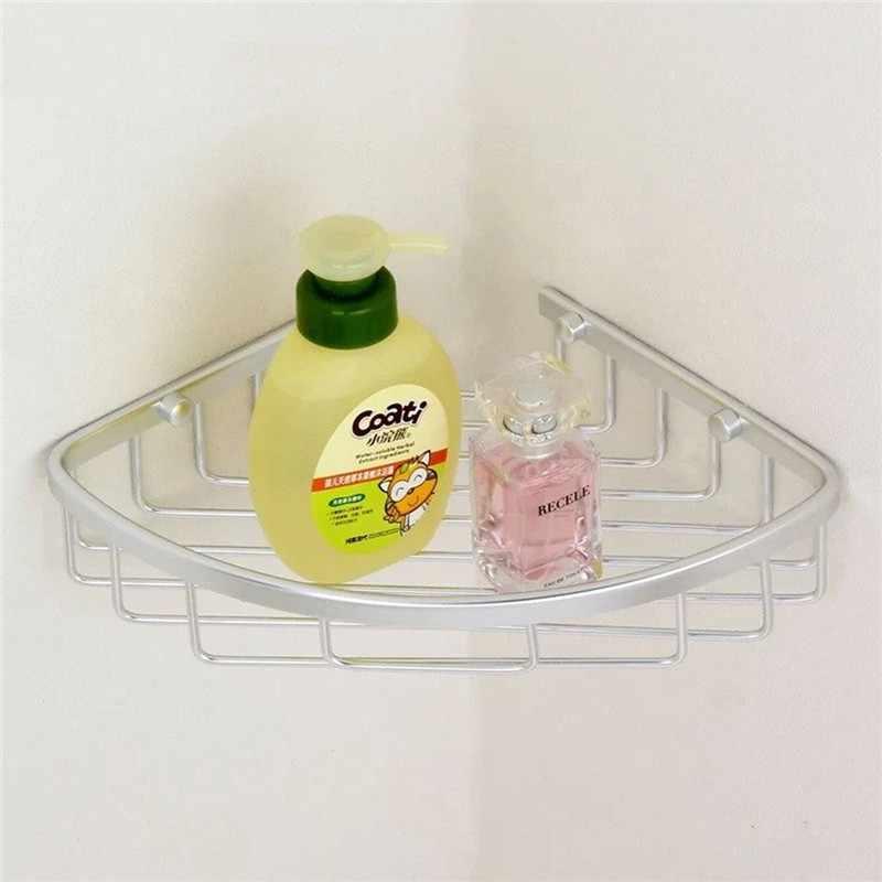 Najniższa cena trójkątne aluminiowe wiszące trójkątne akcesoria łazienkowe/prysznicowe półka narożna uchwyt na półkę kosz