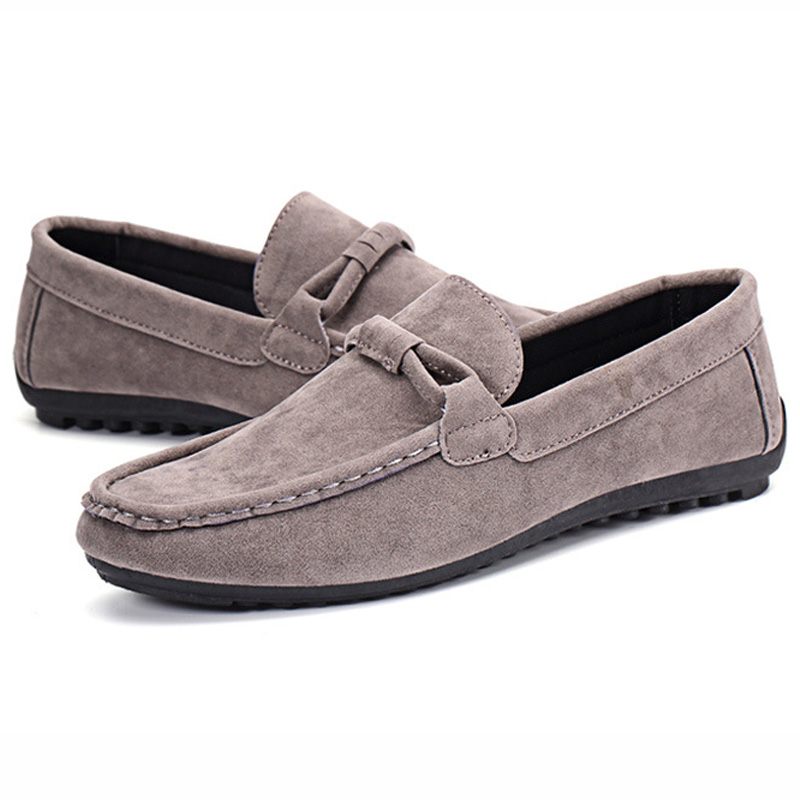 Shoes Men Loafers Soft Moccasins Cow   Suede     Leather     Leather   Shoes Men Flats 2019 New Men Casual Shoes Moccasin Driving Shoes
