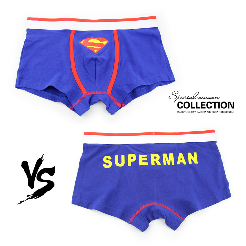 Superman Combed Cotton Breathable Low-waist Men Underwear Marval Cartoon Men Cueca Boxer Hombre Student Sexy Movie Men Underwear #4