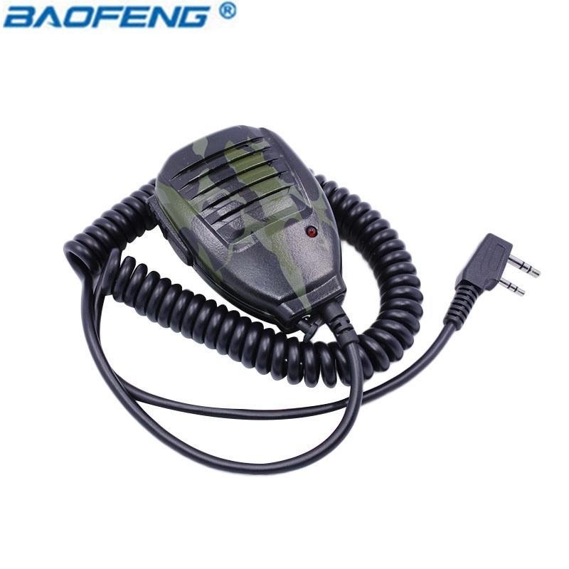 Radio De Poche Micro Haut-Parleur Microphone pour Talkie Walkie BF-UV5R Portable Ham Two Way Radio Pofung Baofeng UV-5R BF-888S (Camo)