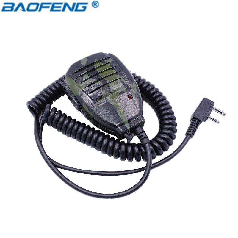 Radio Handheld Micro Lautsprecher Mikrofon für Walkie Talkie BF-UV5R Tragbare Ham Two Way Radio Pofung Baofeng UV-5R BF-888S (Camo)