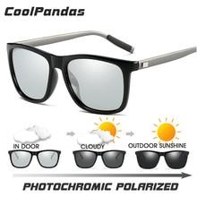 New Brand Polarized Photochromic Sunglasses Men Chameleon Goggle Aluminum Magnes