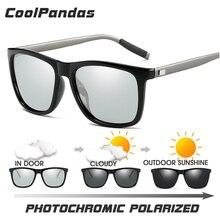 New Brand Polarized Photochromic Sunglasses Men Chameleon Go