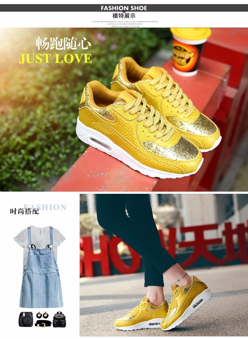 Fashion KUYUPP Wedges Women Trainers Breathable Sport Sequined Cloth Casual Shoes Outdoor Walking Shoes Zapatillas Mujer YD36 (13)