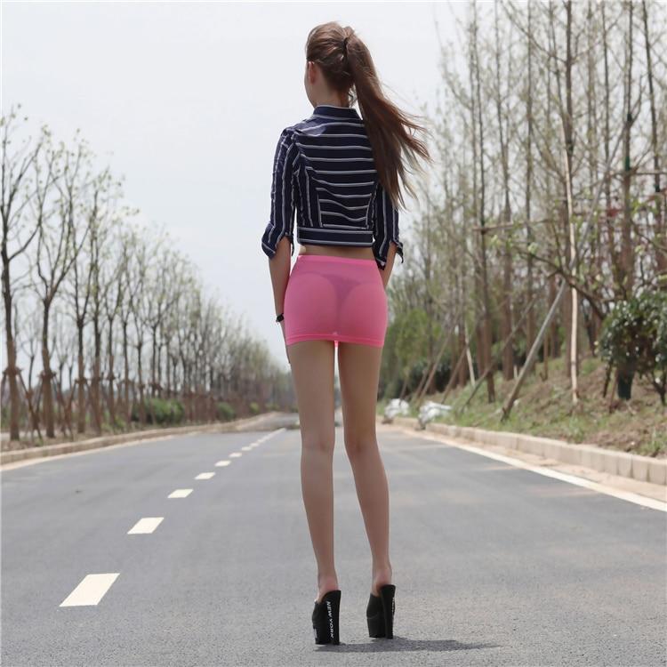 Viscose Fun Miniskirt Sexy Tight Fitting Slim Hip Skirt -3623