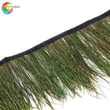 1 метр красивые натуральные перья павлина планки Ширина 10-15 см для одежды платья Швейные аксессуары DIY ремесло ювелирные украшения