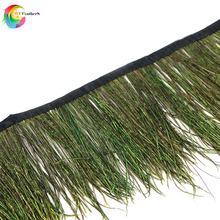 1 Meter Beautiful Natural Peacock Feather Trims Width 10-15CM For Clothing Dress Sewing Accessories DIY Craft Jewelry Decoration