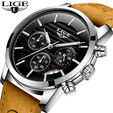 LIGE Mens Watches Top Brand Luxury Fashion Sport Quartz Wrist Watch Men Date Waterproof Man Business Watch Relogio Masculino цена