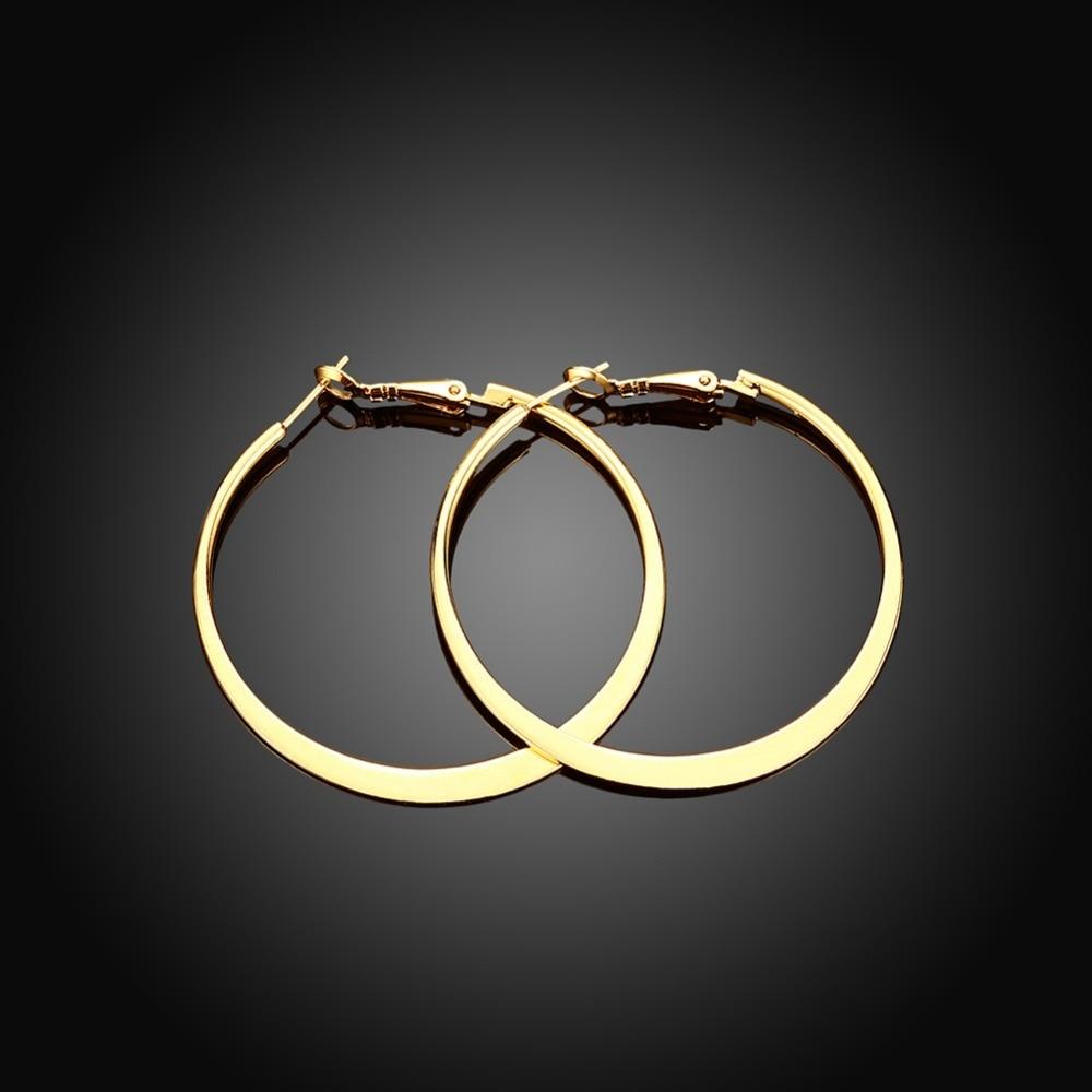 Lekani Hoop Earrings Fine-Jewelry 925-Sterling-Silver Women Round for Christmas-Gift