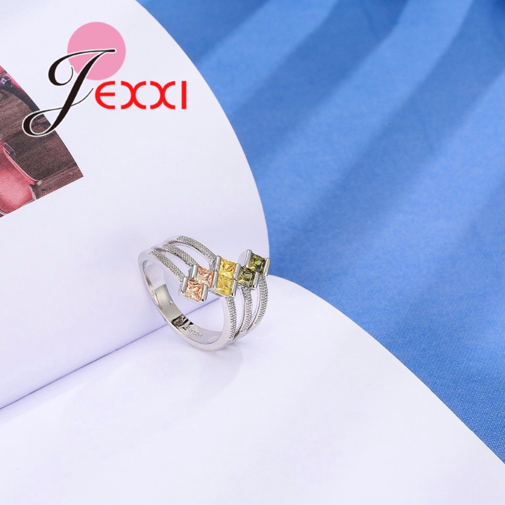 JEXXI Big Size 925 Sterling Silver Ring Paved AAA Clear Cubic - Märkessmycken - Foto 6