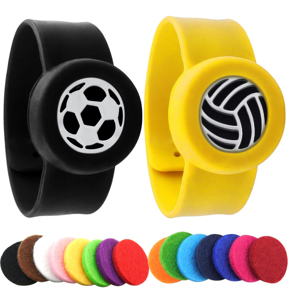 Baseball Soccer Kids Adjustable Mosquito Repellent Bangle Essential Oil Diffuser Bracelet Children Men Women Silicone Bracelets