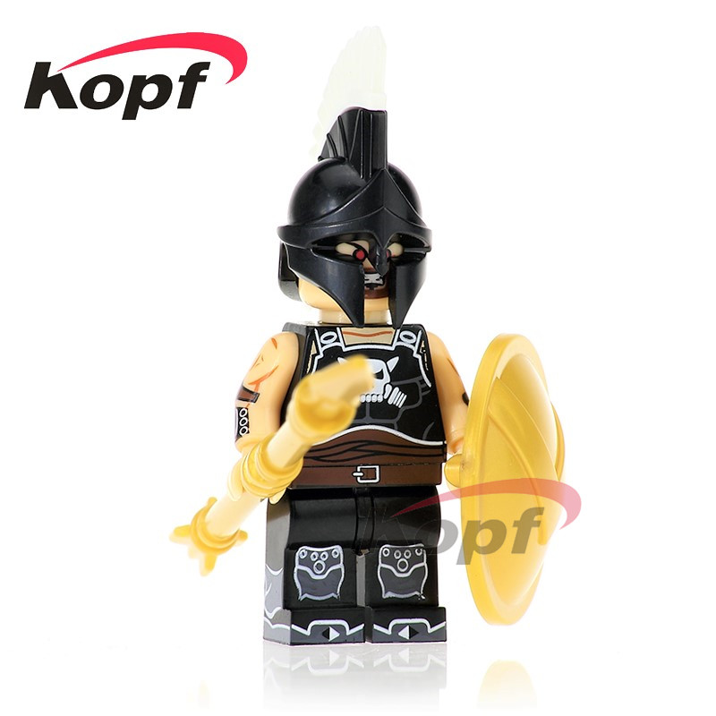 Single Sale Ares Hun Warrior Evil Knight Athena Building Blocks Super Heroes Action Bricks Collection Children Gift Toys XH 639